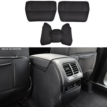 Car Rear Seat Anti-Kick Pad Rear Seats Cover Back Armrest Protection Mat For Volkswagen VW Tiguan MK2 2017 2018 2019 2020 car armrest cover kick pad back seat protection mat children anti kick for kia sportage 4 2016 2017 2018 2019 2020 accessories