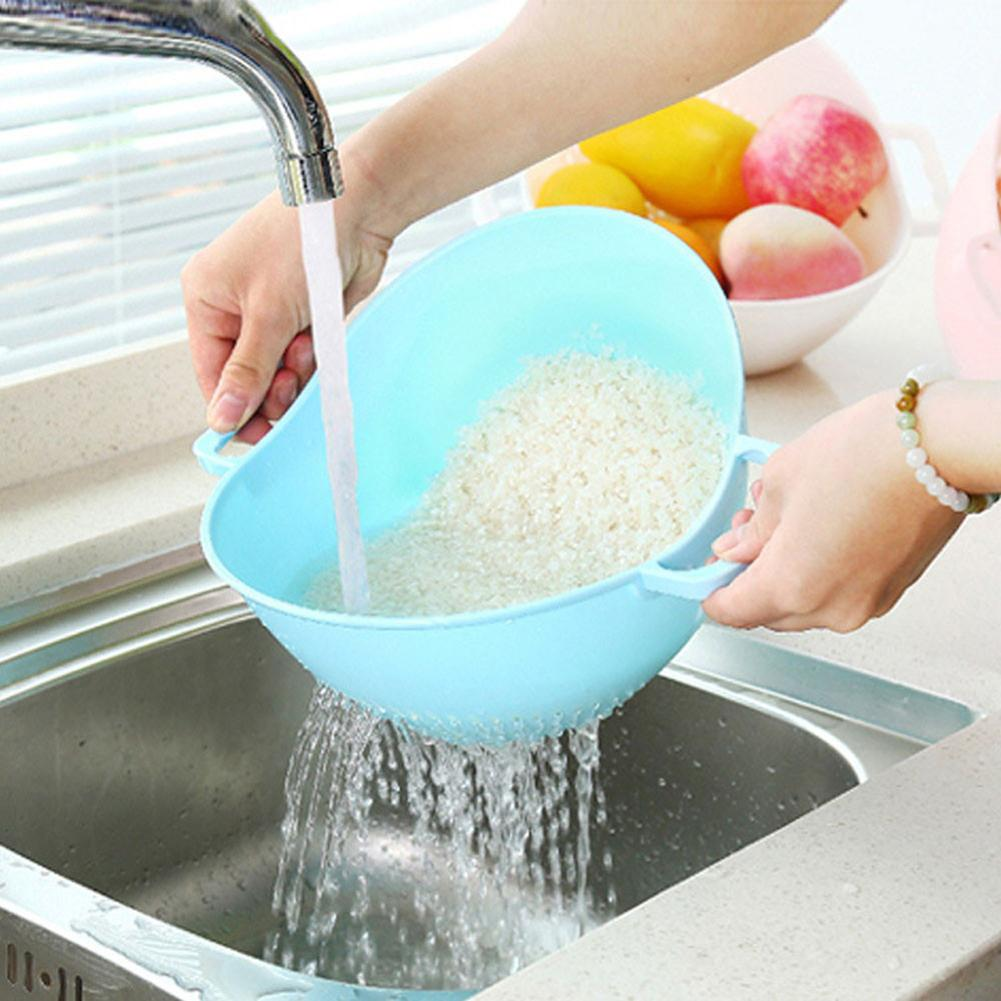 Rice Washer Strainer <font><b>Kitchen</b></font> <font><b>Tools</b></font> Fruits Vegetable Cleaning Container Basket image