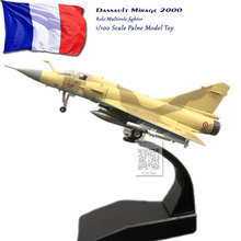AMER 1/100 Scale Military Model Toys France Dassault Mirage 2000 Fighter Diecast Metal Plane Toy For Gift/Collection
