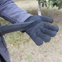 Defesa ao ar livre corte-resistente luvas de segurança do trabalho anti faca de fio de aço luvas de proteção de escalada