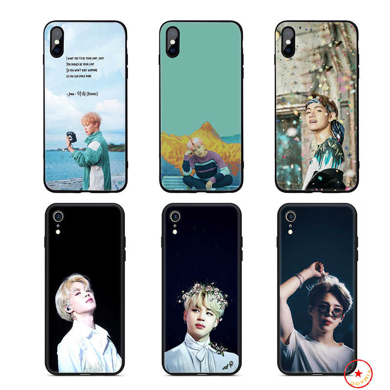 Park Jimin K Pop ซิลิโคนสำหรับ iPhone 11 Pro Xs Max X หรือ 10 8 7 6 6S Plus 5 5S SE Xr 6 Plus 7Plus 8 Plus