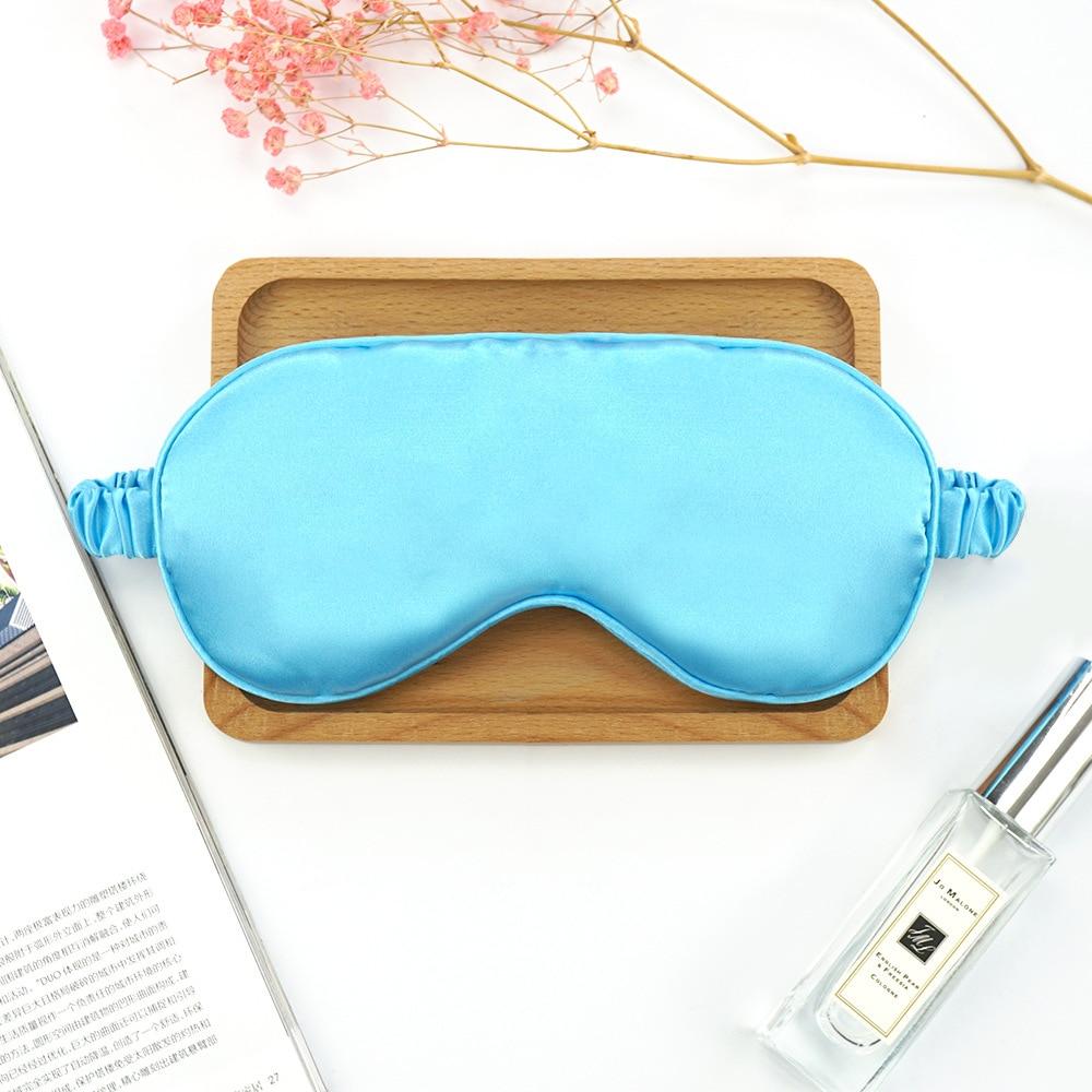 Soft Imitated Silk Eyeshade Sleeping Women Eye Cover Mask Eyepatch Blindfold Portable Travel Nap Rest Sleep Eye Patch 5