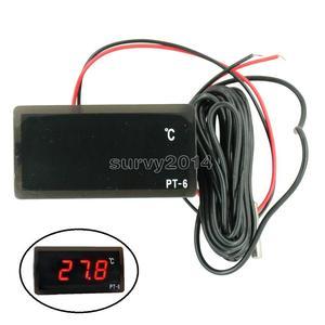 Image 1 - PT 6 40 ~ 110C דיגיטלי רכב מדחום רכב טמפרטורת מד צג AC 220V DC 12V רכב מדחום עם NTC חיישן