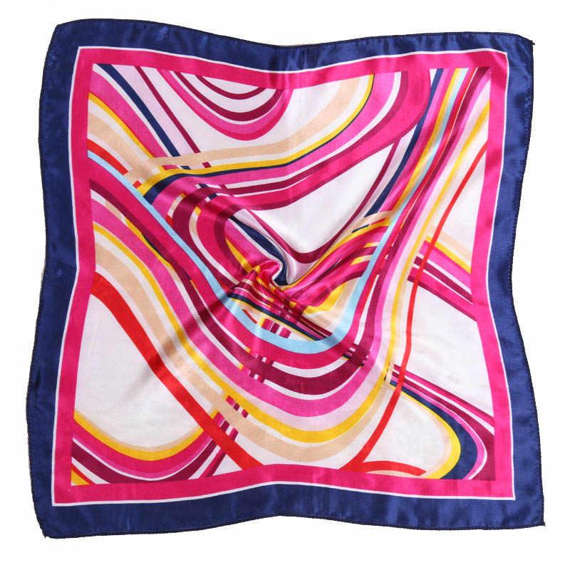 צעיף נשים סאטן קטן כיכר צעיף נשי מודפס צבעוני אלגנטי כל התאמה רך משי צעיף מתנה קל משקל מטפחת