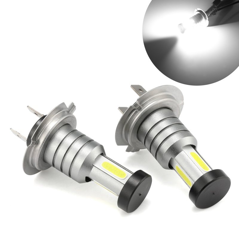 iSincer <font><b>H7</b></font> LED Headlight Bulb 55W <font><b>30000LM</b></font> LED Canbus Auto Light <font><b>H7</b></font> Hi-Lo Beam Conversion Globes Bulbs 6000K Headlamp Beam Kit image