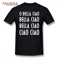 Money Heist T Shirt Oh Bella Ciao T-Shirt Graphic Mens Tee 100 Cotton Summer XXX Short Sleeve Fun Tshirt