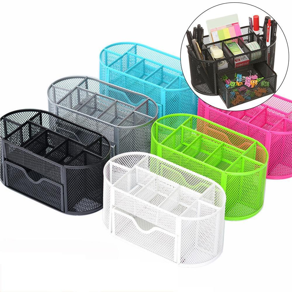 2019 New  9 Compartments Students Desktop Stationery Collection Organizer Office Pen Holder
