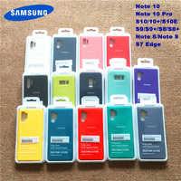 Samsung Nota 10 Pro Liquido Morbido Caso Della Copertura Del Silicone Per La Galassia S10 + S10E S8 S9 S10 Più S10 5G Nota 8 9 10 Più S7 Bordo Con La Scatola