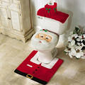 3pcs Fancy Santa Claus Rug Seat Bathroom Set Contour Rug Christmas Decoration Navidad Xmas Party Supplies New Year