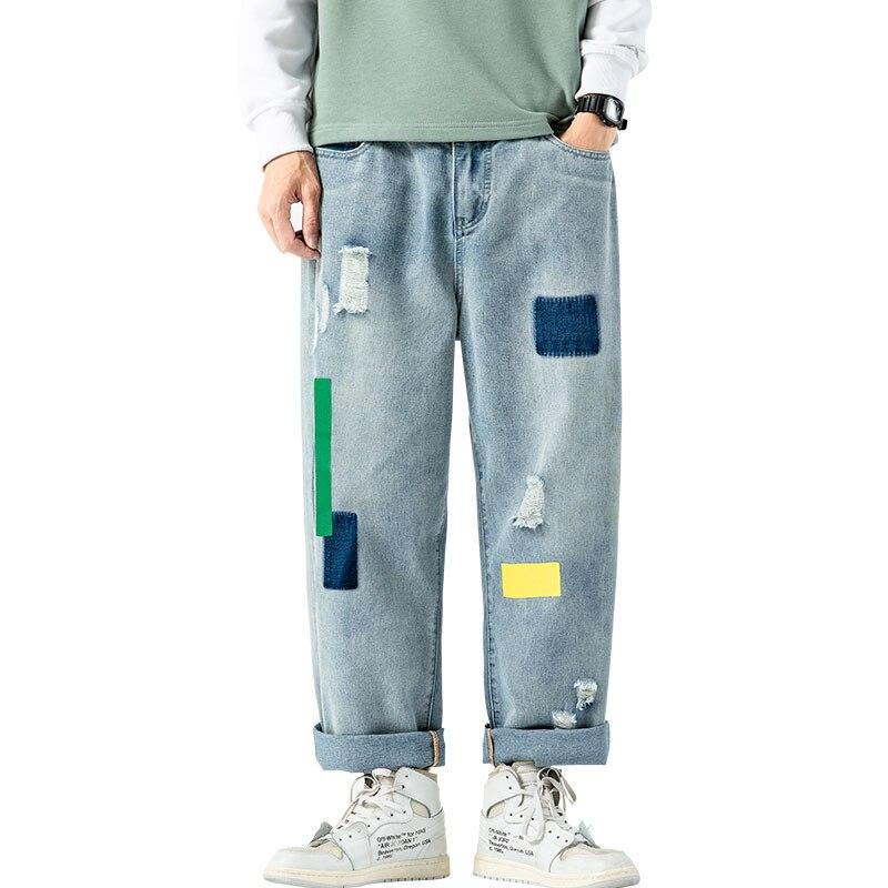 Men Baggy Oversized Jeans Pants Denim 2020 Mens Hip Hop Harem Pants Vintage Casual Women Denim Pants Straight Pants