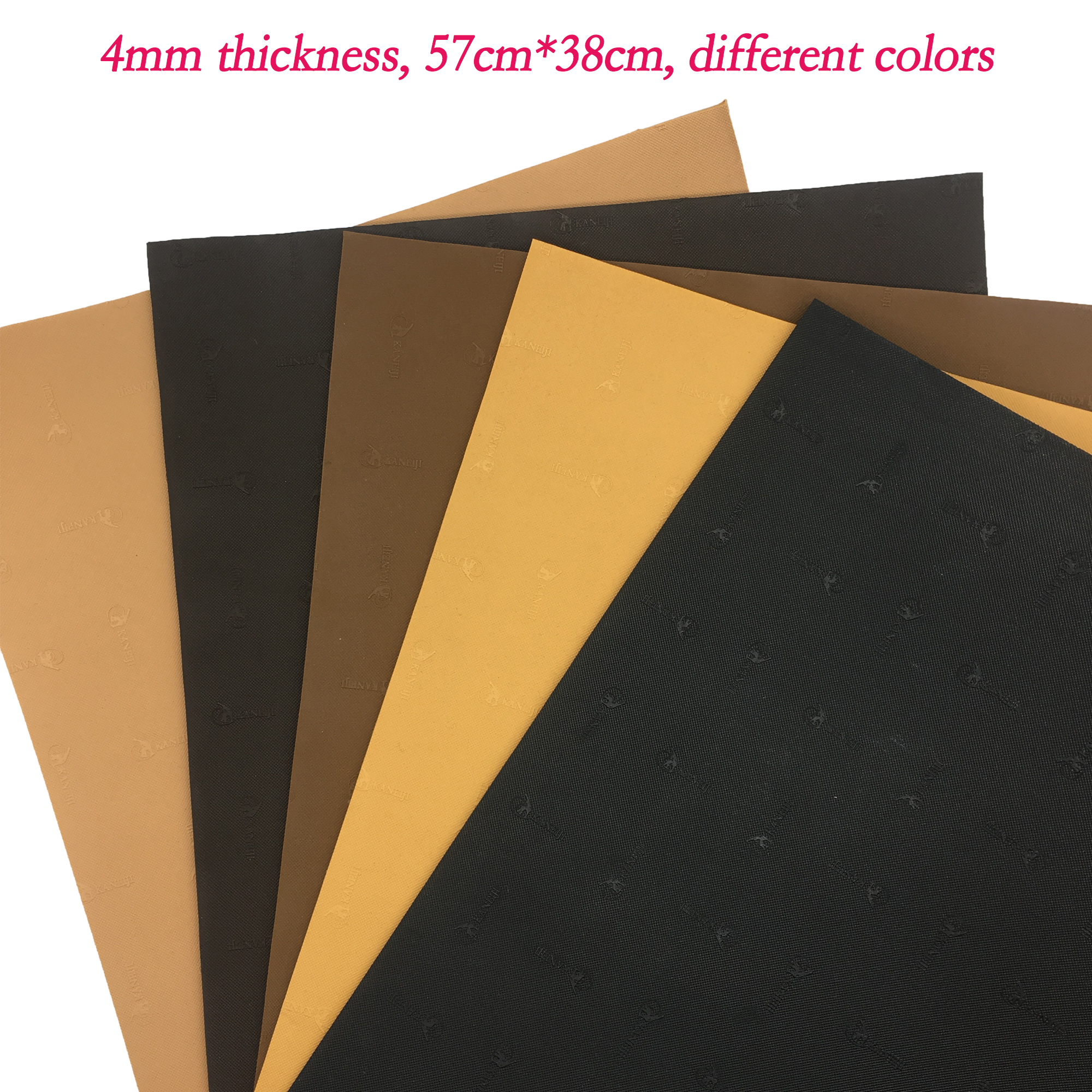 KANEIJI 4mm Thickness Repair Shoes Rubber Sheet, Out Sole Rubber Sheet, Heel Rubber Sheet, Cutting Rubber Sheet