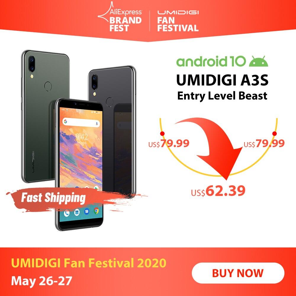 UMIDIGI A3S Android 10 Global Band 3950mAh Dual Rear Camera  5.7