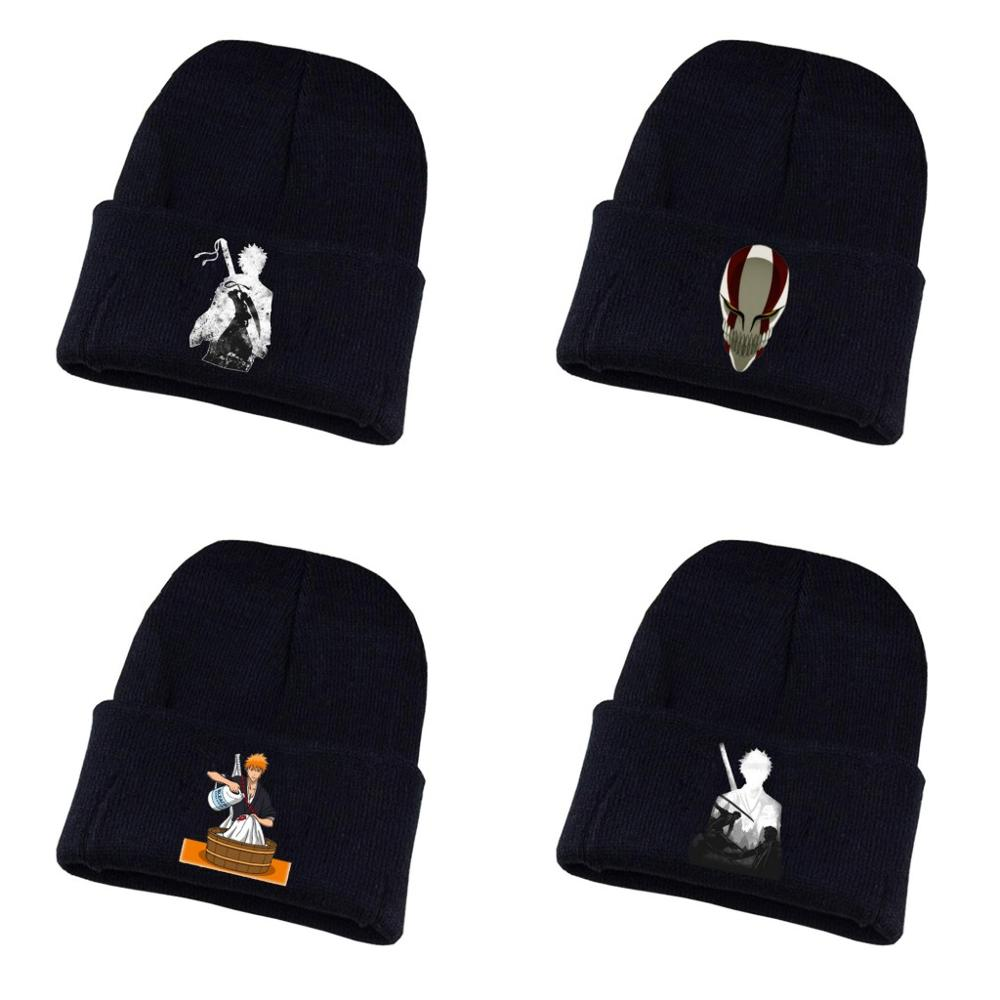 Anime BLEACH Knitted hat Cosplay hat Unisex Print Adult Casual Cotton hat teenagers winter Knitted   Cap
