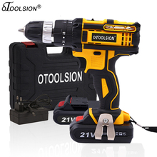 OTOOLSION 21V 18+3 Torque Impact Cordless Screwdriver Cordless Drill Impact Electric Drill Power Tools Hammer Drill Electric