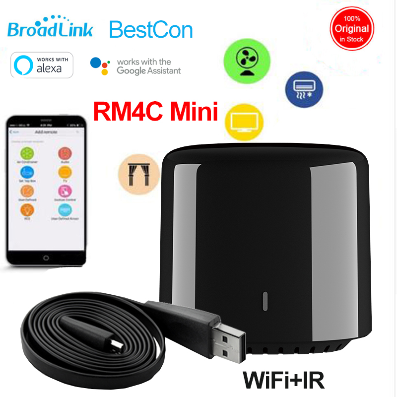 1/2/3/4/5 PCS Broadlink RM4C Mini BestCon Smart Home Universal WiFi/IR Wireless Remote Controller Works With Alexa Google Home