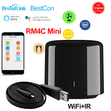 Broadlink RM Mini 3 Smart Home Automation Universal Intelligent WiFi/IR/4G Wireless Remote Control Switch Via Phone Android IOS 2019 broadlink rm03 rm pro rm3 pro automation smart home wifi ir rf 4g intelligent universal remote control for ios android