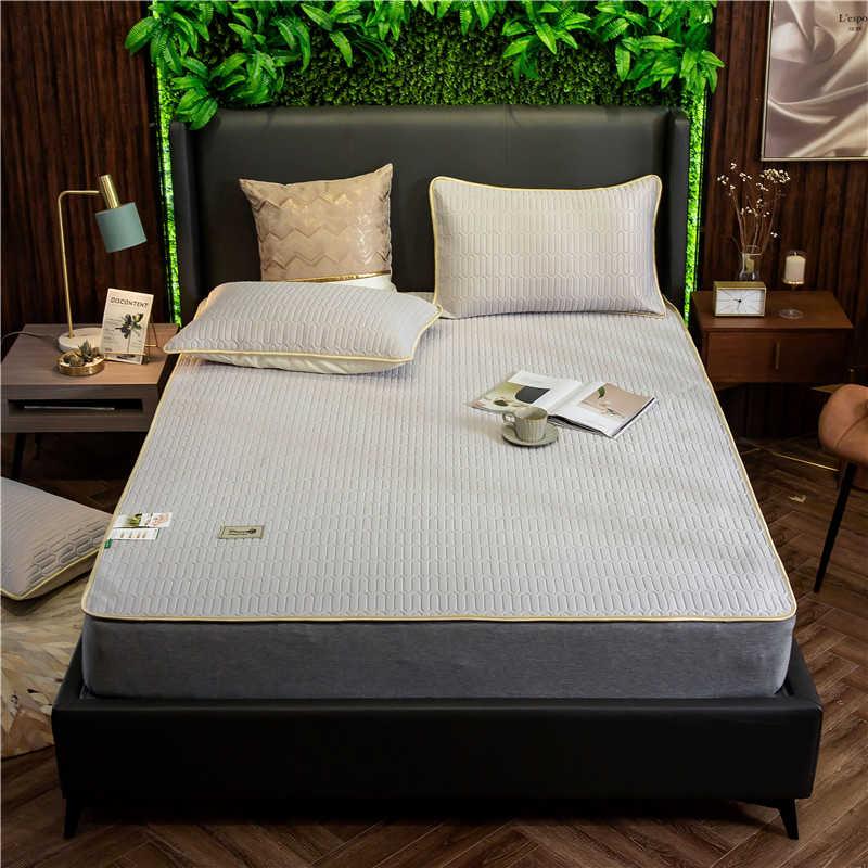 Новый Модный летний латексный матрас для домашнего общежития, ледяной Шелковый матрас, складная односпальная кровать, матрас, бесплатная доставка
