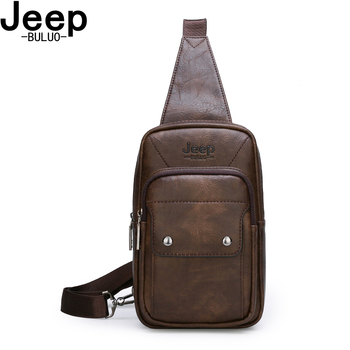 JEEPBULUO Brand Men Bags New Hot Crossbody crossbody bag Famous Brand Man's Leather Sling Chest Bags Fashion Casual цена 2017