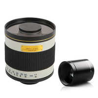 Lente de espejo Manual telefoto de cámara de 500mm F/6,3 + lente de Teleconverter 2X para Canon Nikon Pentax Olympus Sony a6300 A7RII GH5 DSLR