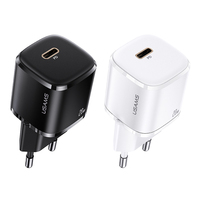 USAMS 20W Quick Charger For iPhone 13 12 Pro iPad Pro GaN Phone Charger for iPhone 13 Mini PD Fast Charging Charger for iPhone