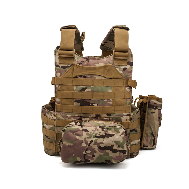 Men Military Tactical Vest Paintball Camouflage Molle Hunting Vest Assault Shooting Airsoft Vests Outdoor Clothes Accessories 3