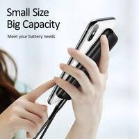 USAMS 5000mAh Mini Power Bank Portable Charger Dual input Fast Charging Powerbank for Xiaomi iPhone Samsung Huawei External Battery Poverbank