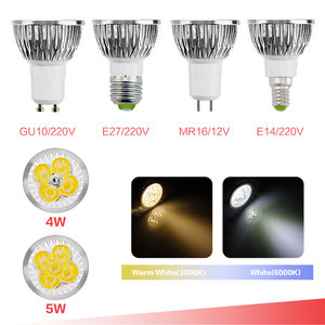 BRELONG Dimming GU10 MR16 E27 E14 LED Spot light Cup 4W 5W light bulb 220V 110V 85-265V White Warm/White lamp