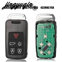 Jingyuqin 5 Taste Remote Key Smart Auto Schlüssel Fob 434Mhz ID46 Chip Für Volvo XC60 S60 S60L V40 V60 s80 XC70 KYDZ Uncut Klinge