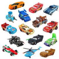 Disney Pixar-Coche de juguete Mcqueen Mater 1:55, coche de juguete con 3 luces, para niños