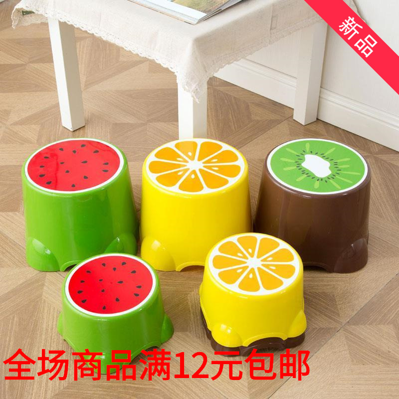 Small Shoes Plastic Children Household Storage Thick Shoes Small Bench Round Adult Stool 2017 Summer Short Kindergarten