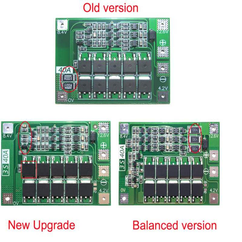 BMS Board Standard Balance 2S 20A/ 3S 20A/ 3S 40A/ 4S 40A 7.4V-16.8V 18650 Lithium Battery Protection Board