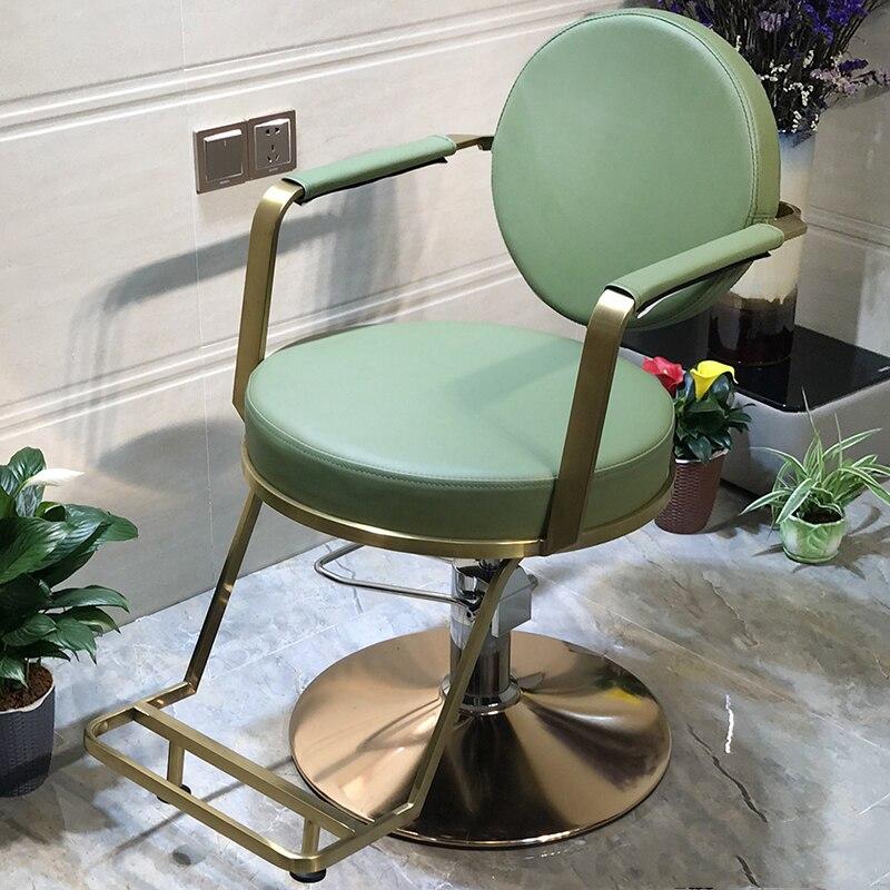 Hairdressing Chair Salon Chair Hair Salon Dedicated Haircut Chair Upscale Simple Modern European Barber Shop Stool
