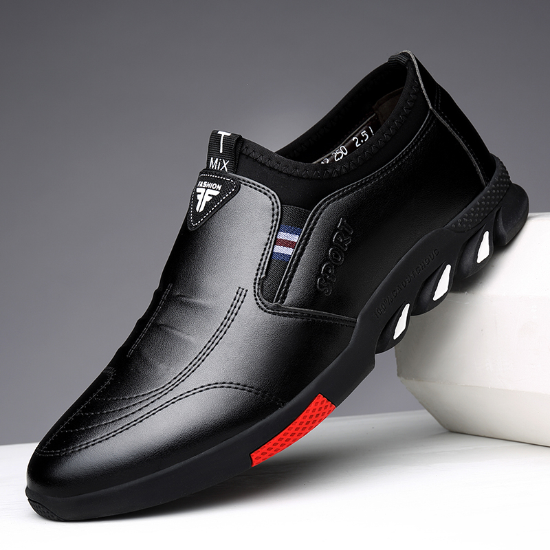 Leather Shoes Men's Leather Spring 2021 New Men's Business Casual Soft-Soled Non-Slip Breathable All-Match Footwear