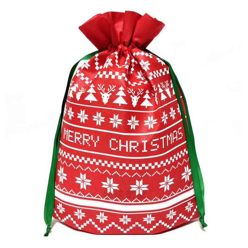 Christmas Drawstring Gift Bag Organizer Xmas Party Tree Decoration For Adult Kid High Quality And Brand New