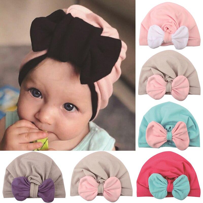Lucu Busur Bayi Topi Serban Simpul Bayi Perempuan Topi Kepala Membungkus Katun Lembut Bayi Balita Beanie Topi Untuk Bayi Baru Lahir Topi Topi Aliexpress