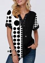 Plus size 4xl 5x pullovers blusa camisa boho impressão rendas splice feminino camisetas com decote em v solto 2020 casual verão nova camiseta feminina