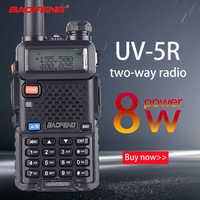 Baofeng UV-5R 8W True High Power 8 Watts powerful Walkie Talkie long range 10km Dual Band Two Way Radio CB Portable uv5r Hunting