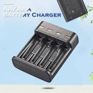 Image 3 - סוללה מטען 4 חריץ USB מטען 4 חריצים מהיר טעינה אינטליגנטי AA/AAA נטענת USB סוללה מטען 4A סוללה מטען
