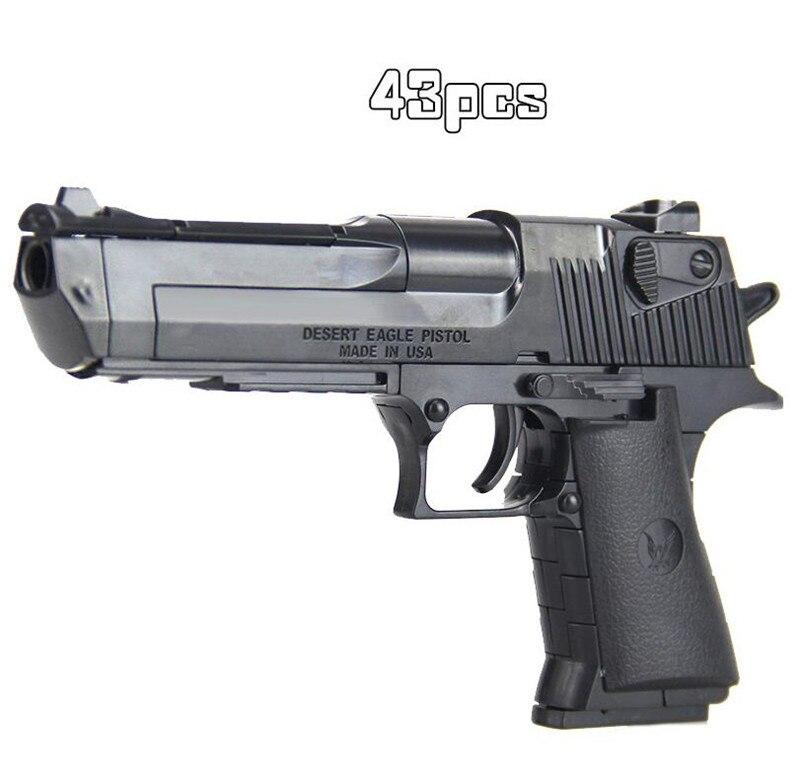Crianças diy menino arma modelo rifle montado bloco de construção brinquedo arma combinação pistola armas militares pistola legal arma brinquedo para crianças|Armas brinquedo|   -