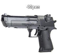 Crianças diy menino arma modelo rifle montado bloco de construção brinquedo arma combinação pistola armas militares pistola legal arma brinquedo para crianças