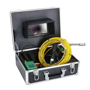 "Image 5 - GAMWATER 30/50M boru muayene Video kamera, 8GB TF kart DVR IP68 drenaj kanalizasyon boru hattı endüstriyel endoskop 7 ""monitör"