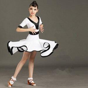 Новинка; платье для бальных танцев для девочек; платье для танго; Детский костюм для латинских танцев; одежда для латинских танцев; распрода...