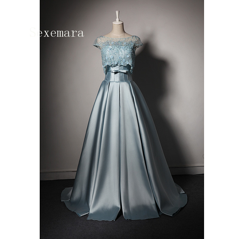 Robe De Mariee Elegant Evening Gown 2018 A-line Vestido De Festa Noiva Longo Vintage Mother Of The Bride Dresses With Jacket