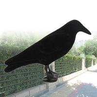Hunting Decoy Creative Realistic Black PE Outdoors Decor Target Pest Trap Fake Bird Hunting Yard Garden Scarecrow-in Jacht Lokvogel van sport & Entertainment op