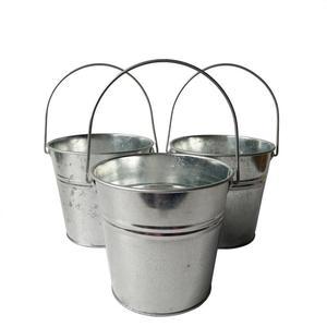 Image 1 - 6 Pz/lotto secchio di Metallo scatola di latta vasi di fiori fioriere Balcone di fiori Vasca grande Secchi