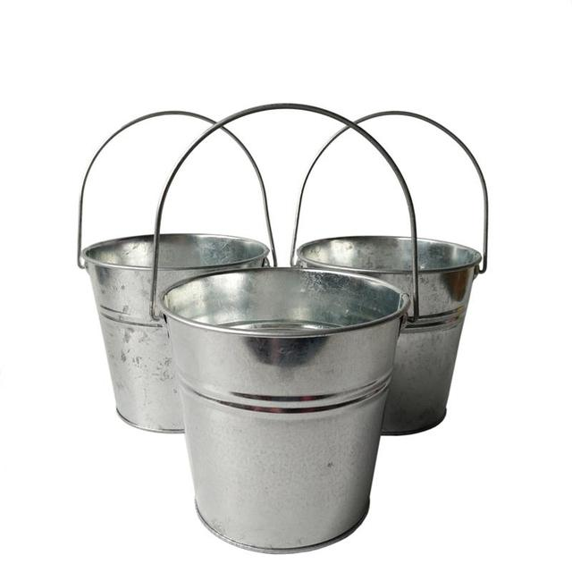 6 Teile/los Metall eimer zinn box blumentöpfe pflanzer Balkon blume Badewanne große Eimer