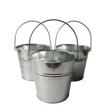 6ピース/ロット金属バケツブリキの箱の花フラワーポットプランターバルコニーの花浴槽ビッグバケツ