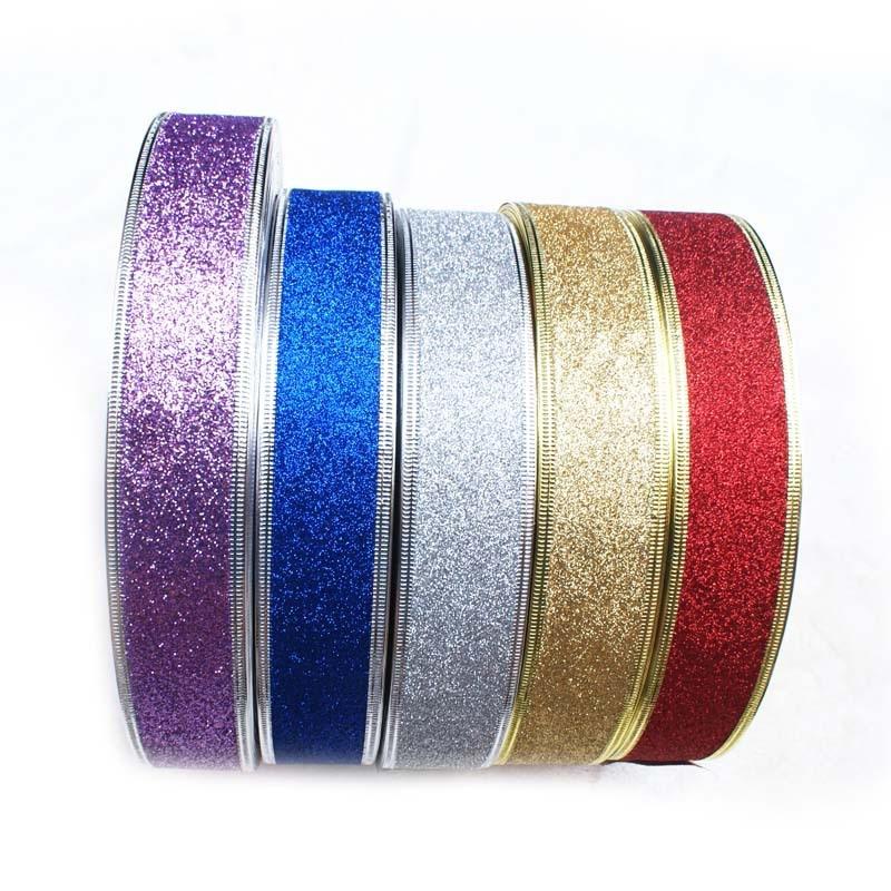 New high-quality glitter ribbon Christmas gift bag decorative decoration bow