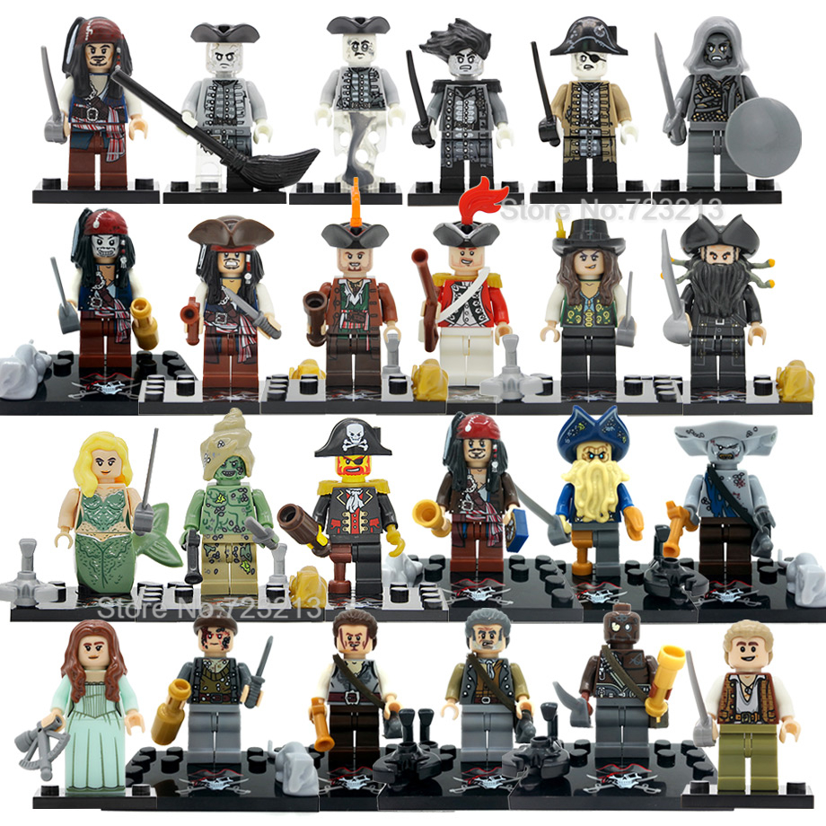 Single Pirates Of The Caribbean Figure Salazar Revenge Captain Jack Carina Smyth Henry Lesaro Building Blocks Set Bricks Toys