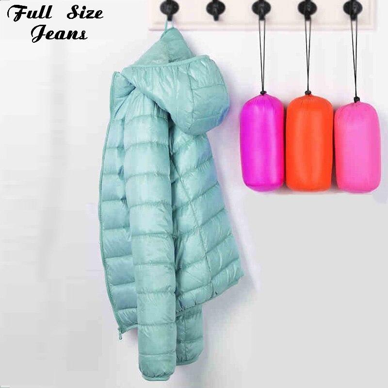 Winter Plus Size 4Xl 3XL Ultra Light 90% White Duck Down Jackets Women Hooded Coat Warm Slim Down Jacket Lady Windproof Parka
